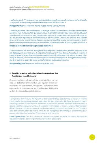 Adapter l'organisation de l'entreprise pour une gestion efficiente des risques et des opportunités dans une entreprise de taille intermédiaire page 18