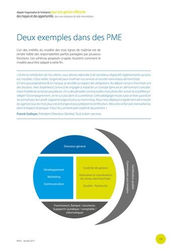 Adapter l'organisation de l'entreprise pour une gestion efficiente des risques et des opportunités dans une entreprise de taille intermédiaire page 20