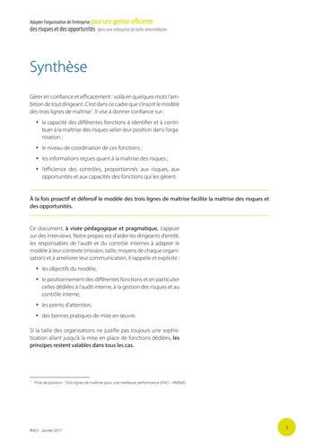 Adapter l'organisation de l'entreprise pour une gestion efficiente des risques et des opportunités dans une entreprise de taille intermédiaire page 4