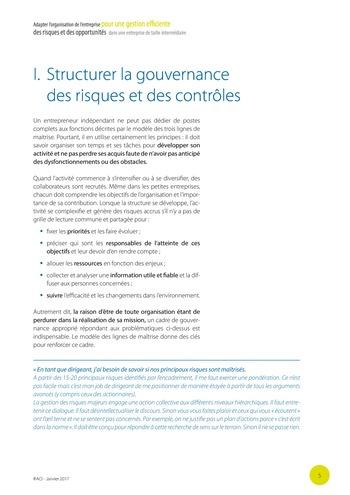 Adapter l'organisation de l'entreprise pour une gestion efficiente des risques et des opportunités dans une entreprise de taille intermédiaire page 6
