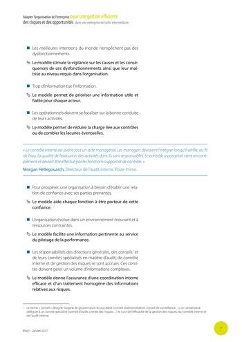 Adapter l'organisation de l'entreprise pour une gestion efficiente des risques et des opportunités dans une entreprise de taille intermédiaire page 8
