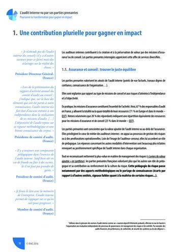 L'audit interne vu par ses parties prenantes - Rapport détaillé page 11