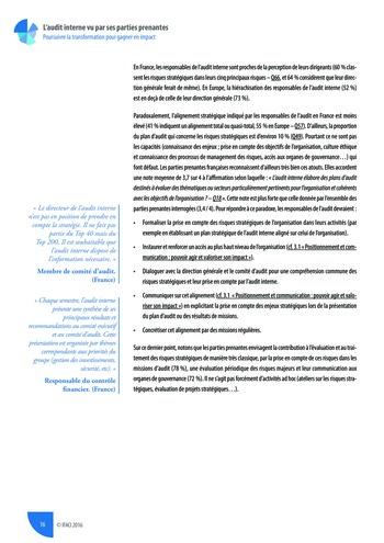 L'audit interne vu par ses parties prenantes - Rapport détaillé page 17