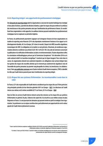 L'audit interne vu par ses parties prenantes - Rapport détaillé page 20
