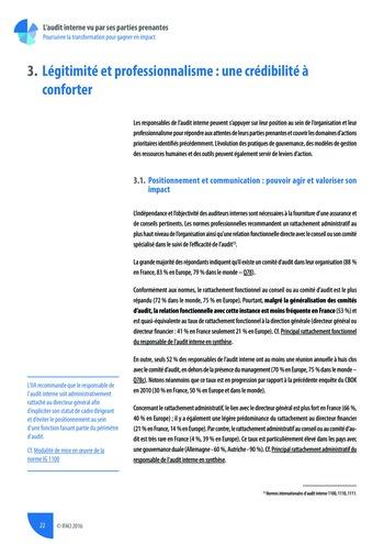 L'audit interne vu par ses parties prenantes - Rapport détaillé page 23