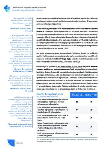L'audit interne vu par ses parties prenantes - Rapport détaillé page 25