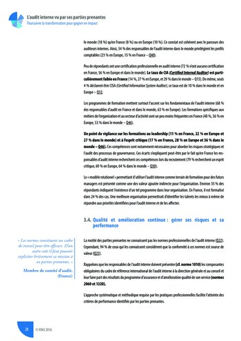 L'audit interne vu par ses parties prenantes - Rapport détaillé page 29