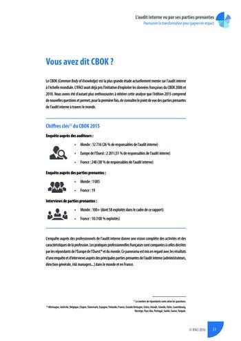 L'audit interne vu par ses parties prenantes - Rapport détaillé page 32