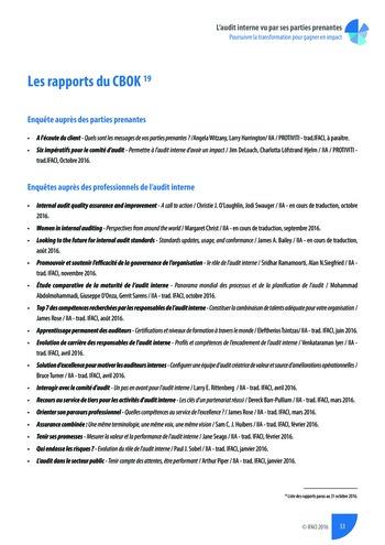 L'audit interne vu par ses parties prenantes - Rapport détaillé page 34