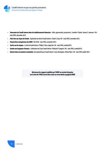 L'audit interne vu par ses parties prenantes - Rapport détaillé page 35