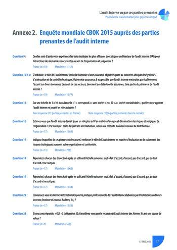 L'audit interne vu par ses parties prenantes - Rapport détaillé page 38