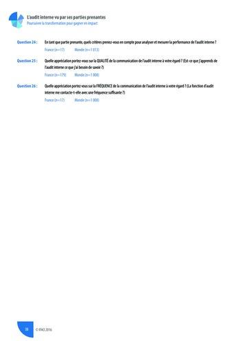 L'audit interne vu par ses parties prenantes - Rapport détaillé page 39