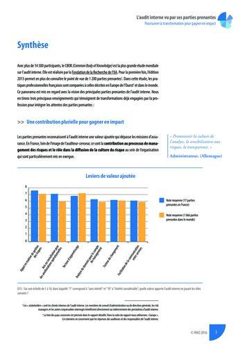 L'audit interne vu par ses parties prenantes - Rapport détaillé page 4