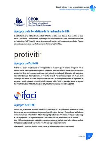L'audit interne vu par ses parties prenantes - Rapport détaillé page 40