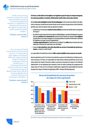 L'audit interne vu par ses parties prenantes - Rapport détaillé page 5
