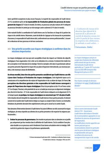 L'audit interne vu par ses parties prenantes - Rapport détaillé page 6