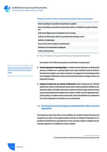 L'audit interne vu par ses parties prenantes - Rapport détaillé page 7