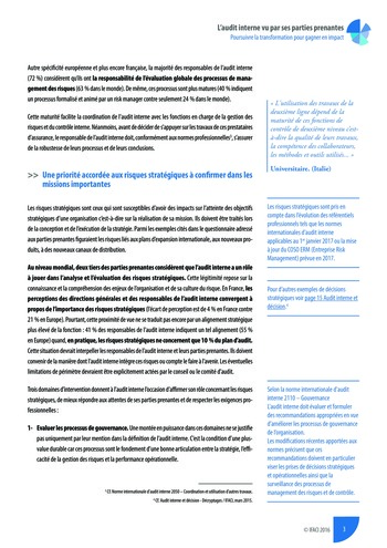 L'audit interne vu par ses parties prenantes - Synthèse page 4
