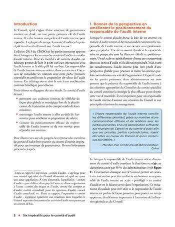 Six impératifs pour le comité d'audit page 2