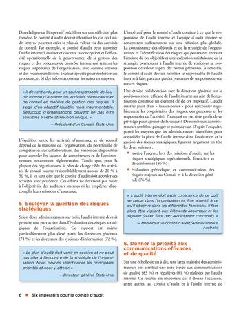 Six impératifs pour le comité d'audit page 6