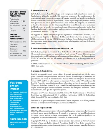 Six impératifs pour le comité d'audit page 8