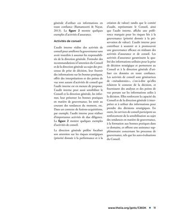 Promouvoir et soutenir l'efficacité de la gouvernance de l'organisation page 11