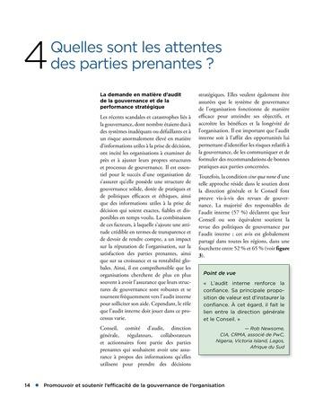 Promouvoir et soutenir l'efficacité de la gouvernance de l'organisation page 14