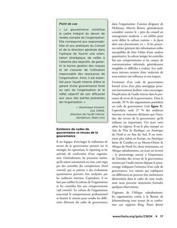 Promouvoir et soutenir l'efficacité de la gouvernance de l'organisation page 17