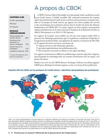Promouvoir et soutenir l'efficacité de la gouvernance de l'organisation page 2
