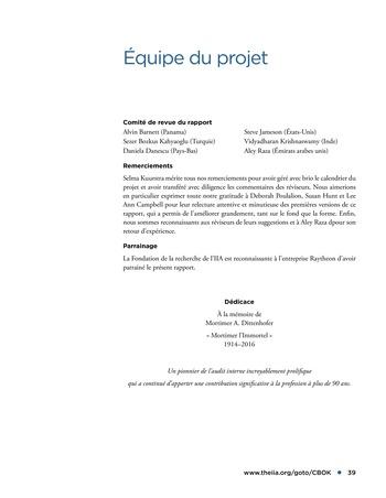Promouvoir et soutenir l'efficacité de la gouvernance de l'organisation page 39
