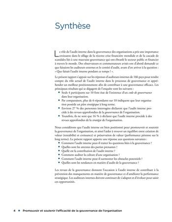 Promouvoir et soutenir l'efficacité de la gouvernance de l'organisation page 4