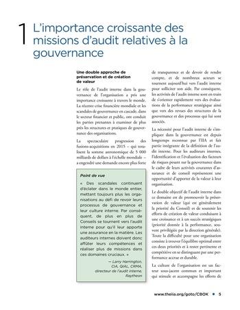 Promouvoir et soutenir l'efficacité de la gouvernance de l'organisation page 5