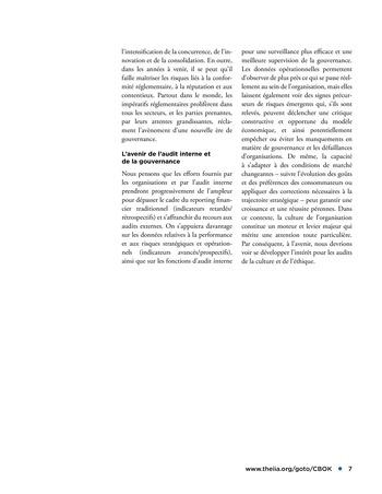 Promouvoir et soutenir l'efficacité de la gouvernance de l'organisation page 7