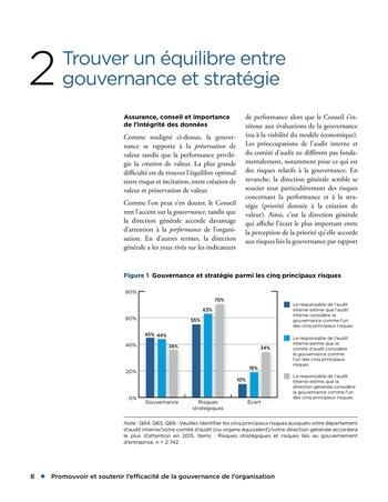 Promouvoir et soutenir l'efficacité de la gouvernance de l'organisation page 8