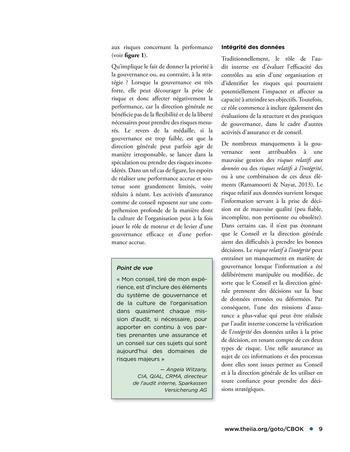 Promouvoir et soutenir l'efficacité de la gouvernance de l'organisation page 9