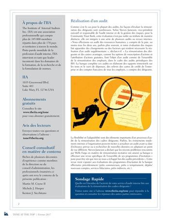 Tone at the top 80 - Rémunération des cadres dirigeants : la revue s'avère payante / fev 2017 page 2