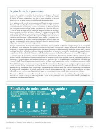Tone at the top 80 - Rémunération des cadres dirigeants : la revue s'avère payante / fev 2017 page 4