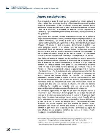 Perspectives internationales - Auditer la culture d'une organisation : examiner, avec rigueur, un concept mou page 10