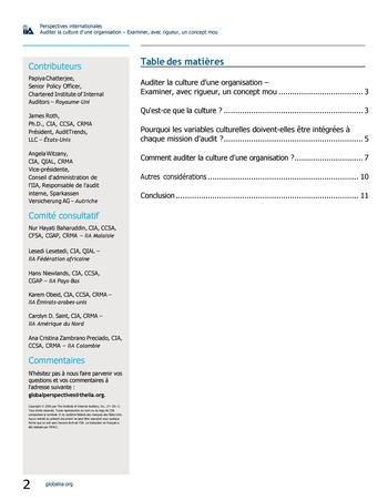Perspectives internationales - Auditer la culture d'une organisation : examiner, avec rigueur, un concept mou page 2