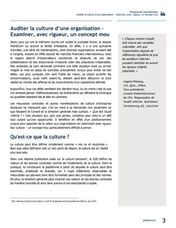 Perspectives internationales - Auditer la culture d'une organisation : examiner, avec rigueur, un concept mou page 3
