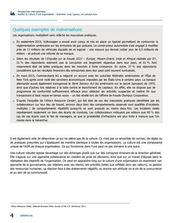 Perspectives internationales - Auditer la culture d'une organisation : examiner, avec rigueur, un concept mou page 4