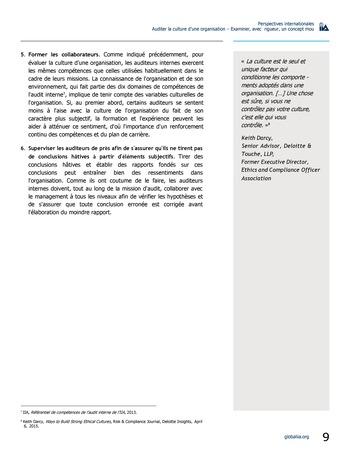 Perspectives internationales - Auditer la culture d'une organisation : examiner, avec rigueur, un concept mou page 9