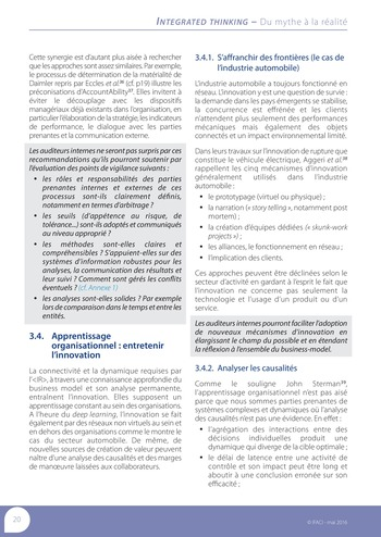 Integrated Thinking - du mythe à la réalité page 21