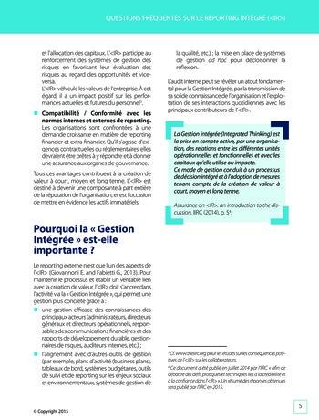 Améliorer le reporting intégré - La valeur ajoutée de l'audit interne page 11