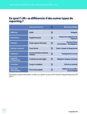 Améliorer le reporting intégré - La valeur ajoutée de l'audit interne page 12