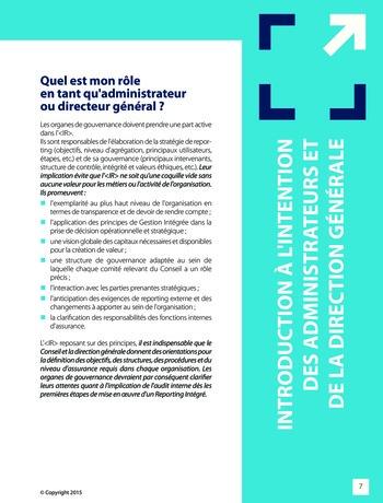 Améliorer le reporting intégré - La valeur ajoutée de l'audit interne page 13
