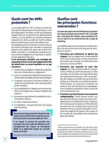 Améliorer le reporting intégré - La valeur ajoutée de l'audit interne page 14