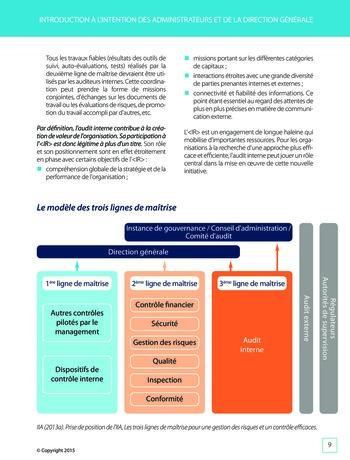 Améliorer le reporting intégré - La valeur ajoutée de l'audit interne page 15