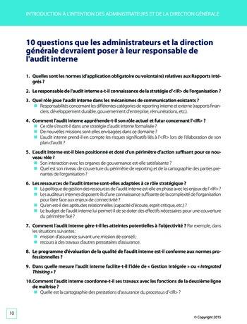 Améliorer le reporting intégré - La valeur ajoutée de l'audit interne page 16
