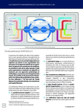 Améliorer le reporting intégré - La valeur ajoutée de l'audit interne page 22
